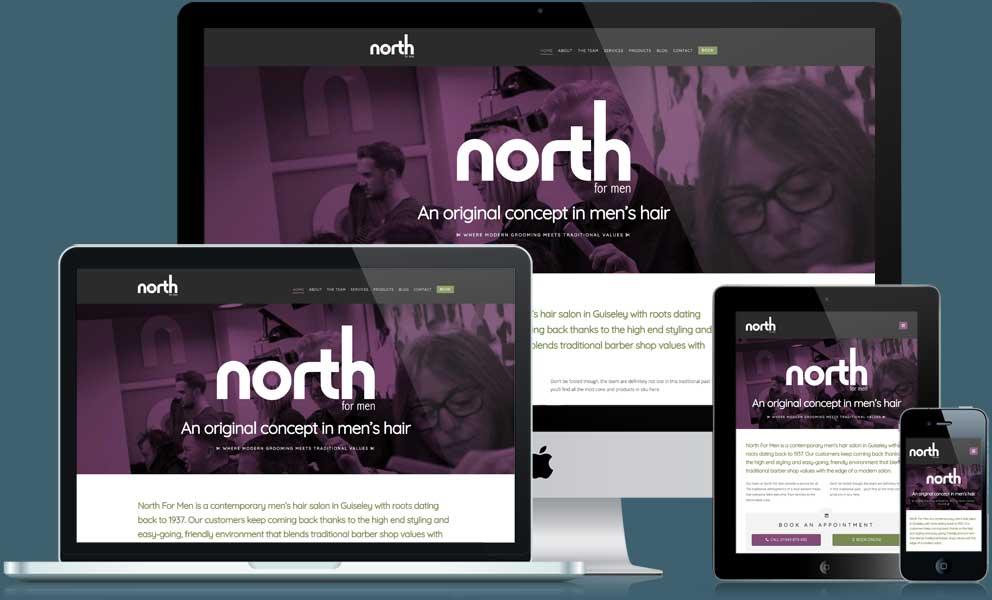 North For Men website