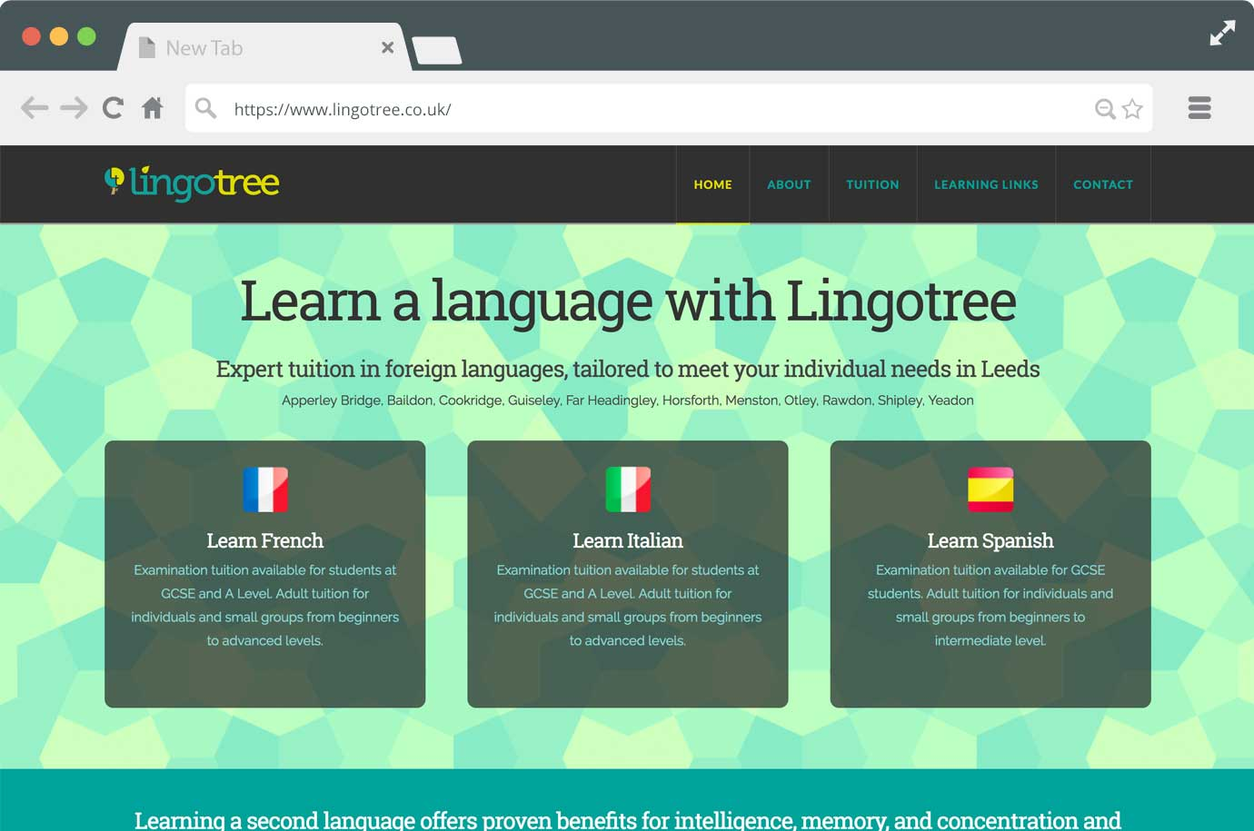 Lingotree website
