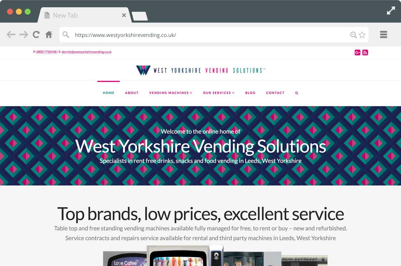 West Yorkshire Vending Solutions website