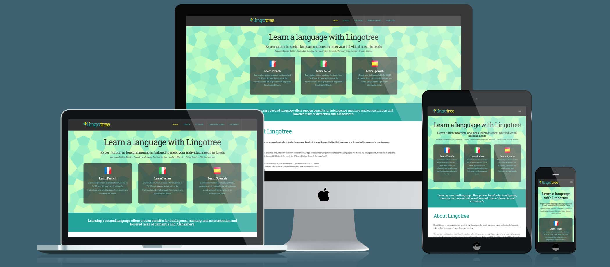 Lingotree website responsive displays