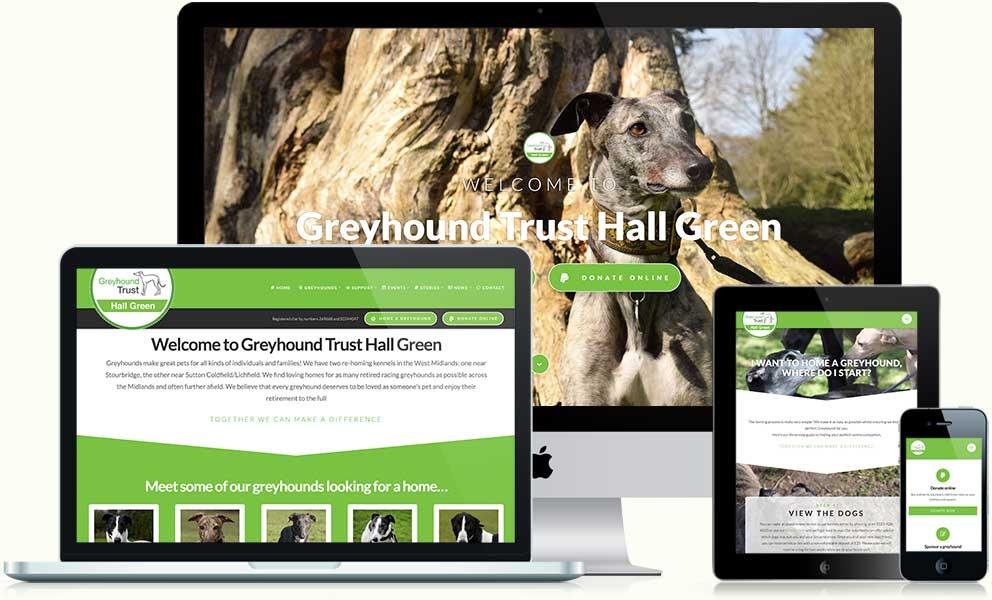 Greyhound Trust Hall Green website